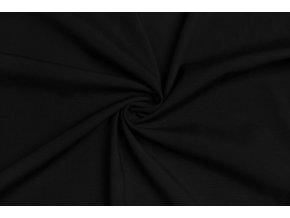 Viskózová tkanina strečová čierna