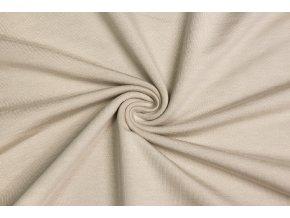 Bambusová teplákovina latté - 96 % bambusová viskóza / 4 % elastan