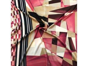 Umelý hodváb / Silky geometrické vzory