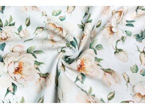 Bavlnený satén ruže Digi tlač