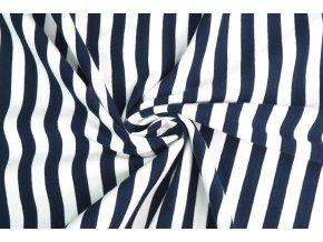 Bambusový úplet pruhovaný modro-biely 0,5 cm