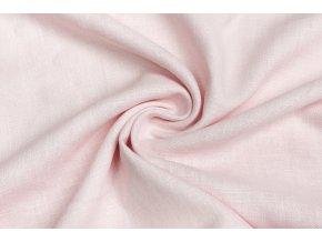 Ľanová tkanina ružová