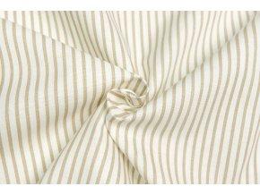 Bavlnené plátno béžový prúžok