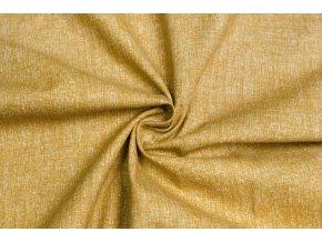 Bavlnené plátno melír okrový
