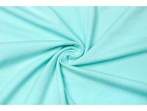 Bavlnený úplet elastický svetlý mätový 160 g/m2