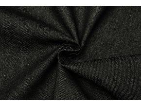 Rifľovina čierna 100 % bavlna praná