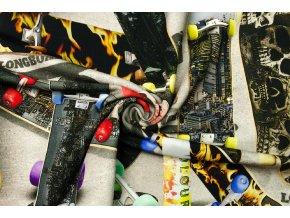 Teplákovina elastická digi tlač skateboart