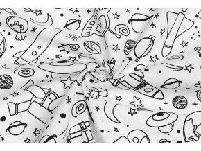 Bavlnené plátno na vyfarbovanie vesmír