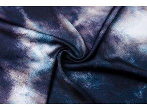 Umelý hodváb / Silky čierno-fialová batika
