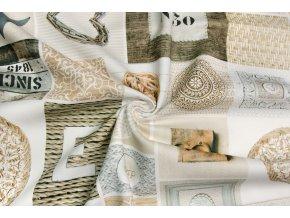 Bavlnené plátno patchwork dekorácie