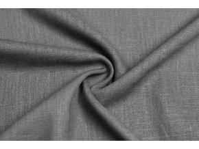 Ľanová tkanina tmavšia sivá