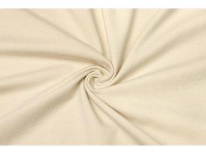 Bavlnený úplet elastický béžová 160 g/m2