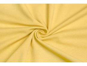 Bavlnený úplet elastický pastelová žltá 160 g/m2