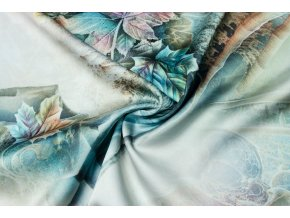 Umelý hodváb / Silky listy - modrý nádych