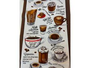 Vaflovina na utierky šálka kávy