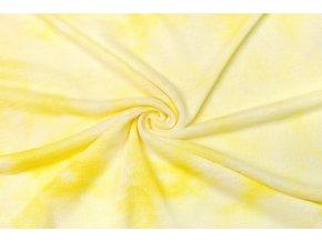Úplet žltá batika