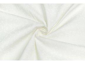Bavlnené plátno popínavé kvietky na bielej