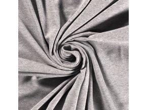 Bavlnený úplet recyklovaný svetlosivý melír