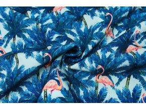Softshell zimný plameniaky s palmami