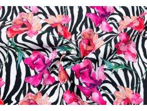 Softshell zimný vlčie maky na vzore zebra