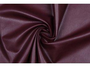 Koženka odevná elastická bordová brúsený rub