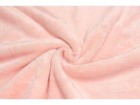 Cuddle fleece bledoružový