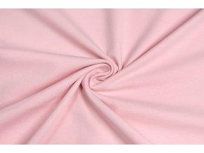 Bavlnený úplet elastický, svetlejšia ružová 160 g/m2