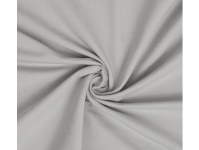 Bavlnený úplet elastický bledosivý 160 g/m2