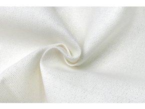 Bavlna panama biela pretkaná striebornou nitkou