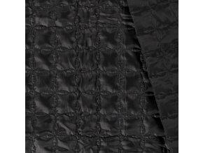 Prešívaná látka geometrické tvary čierna