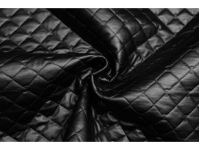 Polyesterový úplet prelis čierny nepremokavý