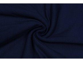 Bambusový úplet tmavo modrý 210 g/m2