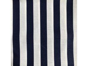 Bavlna modro-biele pruhy