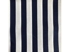 bavlna modrobiele pruhy