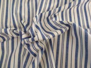 bavlna pruhy modré na biele (3)