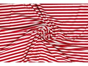 Bambusový úplet pruhovaný červeno-biely 0,5 cm
