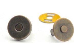 Magnetické zapínanie priemer 10 mm staromosadz
