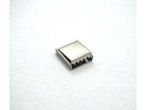 Koncovka kovová na plochú šnúrku 10 mm (farba staromosaz)
