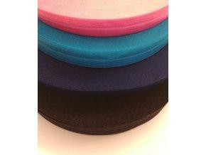 Lemovací elastický prúžok 19 mm (farba tmavo modrá)