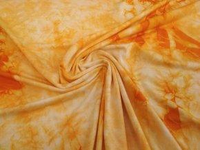 Bambusový úplet oranžová batika