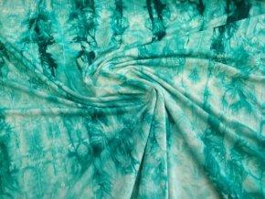 Bambusový úplet smaragdová batika