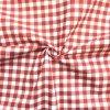 Bavlnené plátno červená kocka