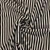 Bavlnený úplet čierno-biely pruh 0,5 cm