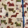 Bavlna režná farební psi