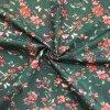 Bavlnené plátno kvety a motýle na petrolejovej