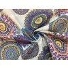 Bavlna režná farebné mandaly fialové