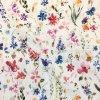 Bavlna režná maľované lúčne kvety