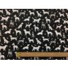 Bavlnené plátno dalmatínec a ďalší psi na čiernej