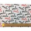 Bavlnené plátno nápis smile