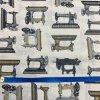 Bavlnené plátno šijacie stroje retro